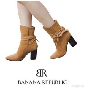 Banana Republic Nutmeg Canton Suede booties